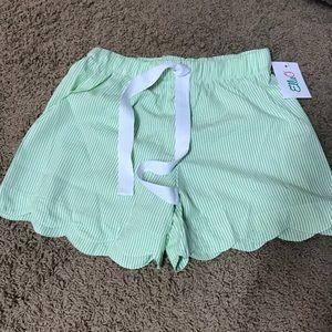 Other - Scalloped seersucker PJ shorts